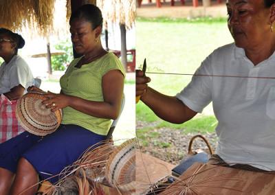 Traditional Kalinago Basket weaving