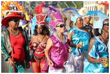 Masqueraders at Mas Domnik 2015 Opening Parade; Photo Credit: DDA