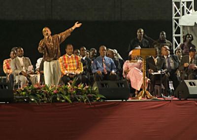 Dice Performing at Stadium Opening Ceremony