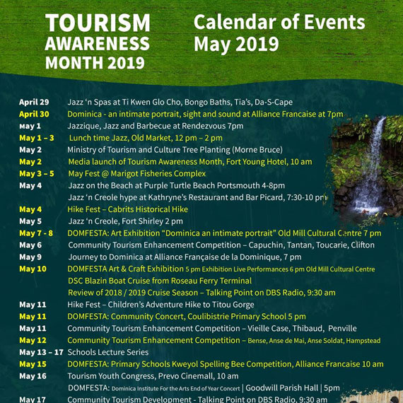 Tourism Awareness Month – May 2019